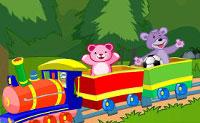 Monta o comboio brinquedo, incluindo os carris e os brinquedos dentro dele, antes que o tempo esgote. Diverte-te!