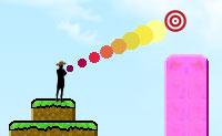 Este é um jogo desafiante, no qual tens que atingir todos os anéis cor-de-rosa com um número limite de boomerangs. Quanto mais apontares com o rato, mais alto os boomerangs voam e menos voltam para trás. Se quiseres praticar, marca a caixa 'boomerangs ilimitados' no menú.
