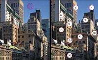 Descobre as diferenças entre duas imagens dentro de cinco minutos e ganha a maioria dos pontos. Se fizeres um erro, são-te subtraídos pontos.