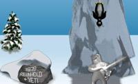 Acerta no pinguim atirando-o para quanto mais longe possível. Tem cuidado para que ele não aterre com a cabeça na neve.