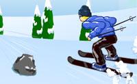 Esquia pela encosta abaixo o mais rápido que consigas e tenta não bater em nada. Boa sorte!