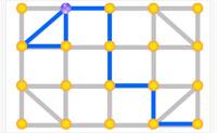 Desenha a estrutura que vês ligando os pontos amarelos. Pensa cuidadosamente, pois o teu tempo é limitado e podes desenhar cada linha apenas uma vez. Boa sorte!