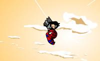 Salte e voe com o Homem-Aranha usando a sua teia.
