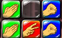 Joga Tesouras de Papel Rocha e elimina tantas filas quanto possível antes que se esgote o tempo.