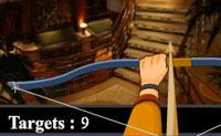 Neste jogo tens de atingir quinze alvos em cinco minutos com um arco e flecha. Olha com precisão, pois alguns alvos estão bem escondidos. Para os últimos três alvos podes comprar uma dica. Não hesites muito, pois de falhares um alvo, perdes 20 segundos de que podes precisar. Diverte-te!