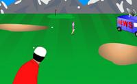 Oh não! As amantes do Tiger Woods estão a caminho para falar à imprensa! Ajuda Tiger a prevenir isso, atira-as para fora com uma bola de golfe antes que cheguem ao camião da emissão. Não te esqueças de ter um olho no vento, pois isso afecta o curso da bola. Boa sorte!