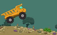 Estás a conduzir um camião do lixo. Apanha montes de pedras à esquerda e leva-as para a fábrica à direita. Conduz rapidamente mas com cuidado, para que não percas a carga. Boa sorte!