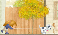 Passeia os teus cães e evita todos os obstáculos, árvores e pássaros. Se o fizeres bem ganhas mais cães pelo caminho. Mas se bateres num obstáculo, perdes energia, até que o jogo acabe. Apanha os corações voadores para ganhar mais energia. Tenta correr o mais longe possível.