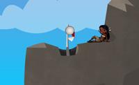 Joga este jogo de aventura de golfe com Caribo, o pirata! Em cada nível tens de meter a bola na baliza. Podes mesmo atingir a bola quando ela está no ar. Apanha moedas para pontos extra de bónus. Boa sorte!