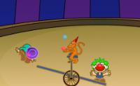 Num circo deixas dois palhaços saltarem de uma prancha de salto para tocarem em balões. Salta cada vez mais alto até poderes tocar nos balões!