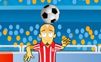 Estás num estádio lotado, executando um truque de futebol: estás a equilibrar a bola com a cabeça. Mas está todo o tipo de lixo a cair do céu. Logo que sejas atingido por uma garrafa ou outra coisa, o jogo acaba. Boa sorte!