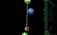 Tenta deixar o robot escalar o mais alto que consiga. Ele segura-se a diferentes tipos de minas. As verdes são boas, mas as azuis explodem se o robot estiver muito tempo pendurado ou se chegar muito perto, e as cinzentas caem como tijolos. Se o robot explode ou cai, podes recomeçar.