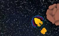 Foge de todos os meteoritos com o teu rocket. Cada vez que bates num, o teu escudo diminui até que não tenhas nenhum restante.