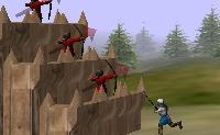 Defenda o castelo e tente concluir a construção da fortaleza do castelo!