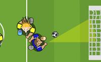 É tempo de futebol! Marca cinco golos em 60 segundos. Cuidado com os teus adversários, se eles te desarmarem três vezes, o jogo acaba. Clica no teu jogador para o activar, depois corre pelo campo e clica para rematar.