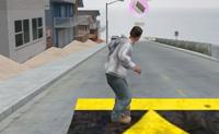 Desfruta do skate na costa, e tenta a tingir uma boa velocidade e fazer truques fixes! Tenta apanhar todas as caixas de sapatos: estas dão-te pontos, que podem ser usados para comprar sapatos. Cuidado ao atravessar uma rua movimentada: antes que dês por isso, o jogo acaba!