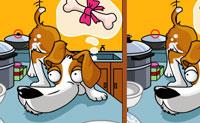 Olha para estes dois desenhos deste esperto cão. À primeira vista, ambos os cães parecem iguais, mas se olhares com atenção, vez que há algumas diferenças! Consegues descobrir as cinco diferenças? Por cada escolha errada, são deduzidos cinco segundos do teu tempo.