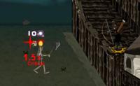 A tua aldeia est� situada no meio de um reino dominado por zombies. Um ex�rcito de esqueletos est� em direc��o � tua aldeia, com um objectivo: quebrar a tua barreira de defesa e transformar a tua bela e segura aldeia numa fria e triste aldeia zombie. Felizmente est�s a ver a podes atirar nos esqueletos que v�m na tua direc��o. Usa o arco e flecha para atingir as suas cabe�as (isto mata-os imediatamente) ou os seus corpos (s�o necess�rios mais tiros para matar os zombies). Na loja podes actualizar o teu arco, setas e armadura.