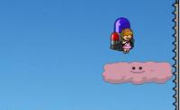 Tens um poderoso jacto atrás de ti e saltas de nuvem em nuvem, Cada vez que aterras, tens de digitar as letras que aparecem no topo do ecrã. Isto dá-te mais combustível para o teu jacto e permite-te continuar a voar. As nuvens cor-de-rosa dão-te poderes redobrados, impulsionando-te para a frente muito rápido. Cuidado para não caíres, pois não sobrevives!