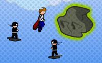 A pequena cidade de Miniopolis está ameaçada pela LSV, a Liga de Super Vilões. Todos os grandes super heróis como o Super-Homem e o Batman estão ocupados nas grandes cidades, e não há outra solução senão pedir ao Super Trapalhão, conhecido por Super Zero, por ajuda. Vamos esperar que o Super Trapalhão se torne um pouco mais forte e melhore as suas técnicas de luta enquanto luta contra a LSV, caso contrário não parece haver muita esperança para Miniopolis!