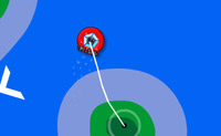 Race your hovercraft as fast as you can; your goal is to go get pills somewhere. Move by clicking on the black points.