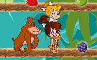 Wilma Flintstone e Bambam estão na selva, apanhando nozes e frutos. Um orangotango está a incomodá-los a toda a hora e Bambam vem para o golpear repetidamente. Quando a Wilma chega ao piso acima do Bambam, ela pode largar todo o tipo de nozes e frutos, que o Bambam pode comer. Ajuda-a a levantar o Bambam a tempo, antes que o orangotango chegue, para evitar as brigas.