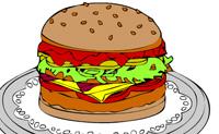 Escolhe umas belas cores e transforma este hambúrguer em algo colorido e saboroso!