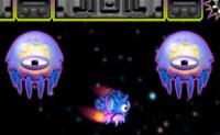 Este pequeno peixe alien�gena � um aut�ntico m�ssil guiado. Agora est� a flutuar no ar, mas o melhor s�tio para estar � uma piscina de �gua florescente cor-de-rosa. Guia-o para l�, evitando todo o tipo de bolas espinhosas. Isto � bastante dif�cil, pois o peixinho por vezes toma outra direc��o que n�o a que tu queres.