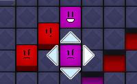 Ajuda estes coloridos e quadrados smileys a 'comer' os quadrados da mesma cor, movendo-os na direc��o certa. Podes fazer isto clicando nas setas. Quando eles atingem um quadrado de uma cor diferente, tens de recome�ar desde o in�cio. Assim tem cuidado quando mandares o teu smiley, pois o jogo pode acabar mais depressa do que pensas! O jogo ganha um novo desafio quando os smileys se bloqueiam uns aos outros. Eles n�o se comem um ao outro, mas simplesmente bloqueiam os seus caminhos. Assim pensa bem para onde vais mover os teus smileys.