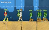 Dez divertidos níveis nos quais podes ajudar estes super heróis a salvar a aldeia contra os invasores alienígenas.