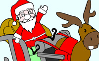 Escolhe algumas belas cores e faz um belo desenho de Natal!