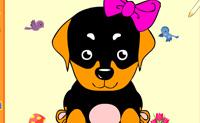 Escolhe umas belas cores para este engraçado pequeno cão, para que se torne numa bela imagem!