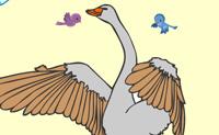 Esta é uma bela imagem de um ganso. Escolhe as cores certas e faz a ave parecer bonita!