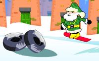 Le Père Noël fait du Surf
