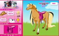 Harnacher des chevaux
