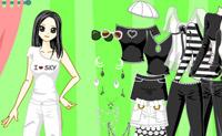 Vestir chica en estilo Gothic