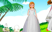 Dress Up Palm Wedding Dress