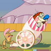 Stimpy's Crazy Cannon Games