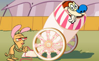 Stimpy's Crazy Cannon
