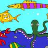 игры Раскрась морских животных