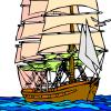 Zeilschip Kleuren Spelletjes