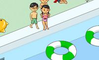 Schwimmbad springen