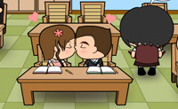 Beso en la escuela 2