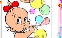 Lámina para colorear Bebé