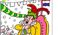 Lámina para colorear Carnaval