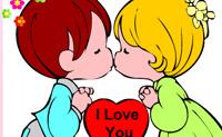 Coloriage Je t'aime