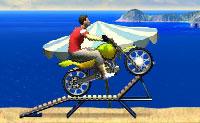 Moto sur la plage