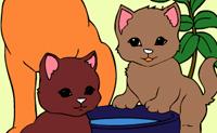 Раскрась кошек онлайн