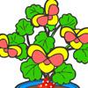 Farvelæg planter Spil
