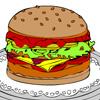игры Раскраска  Гамбургер